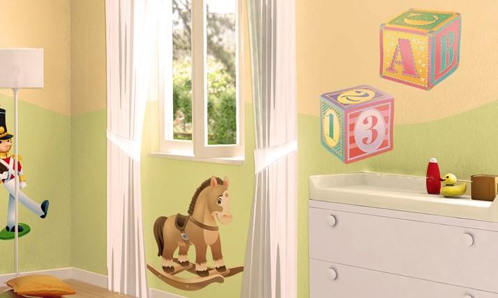 Stickers Murali Bambini - Cameretta Il mondo dei giocattoli  LeoStickers